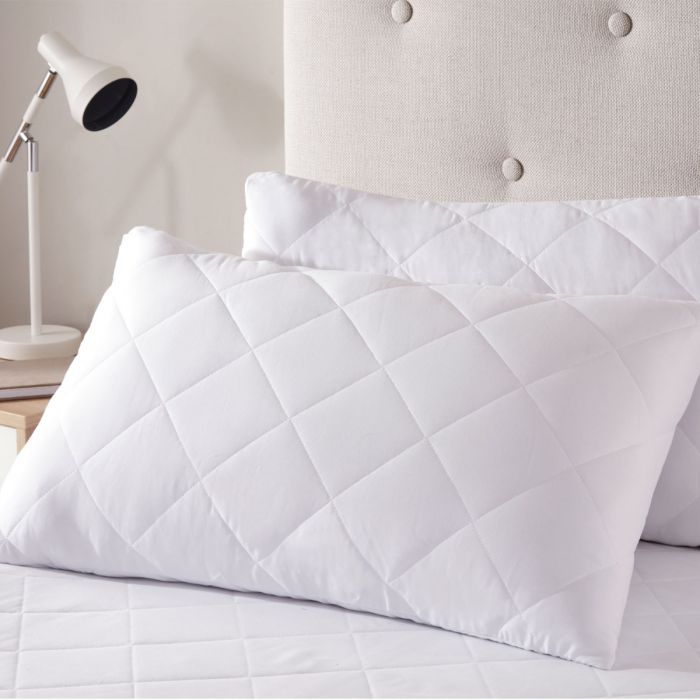 anti allergy quilted pillow protector pair