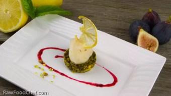 Zitronen Lavendel Sorbet