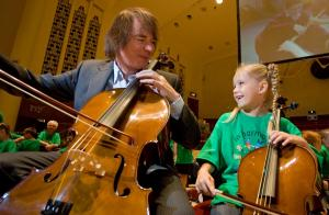 Julian with In Harmony Liverpool cellist