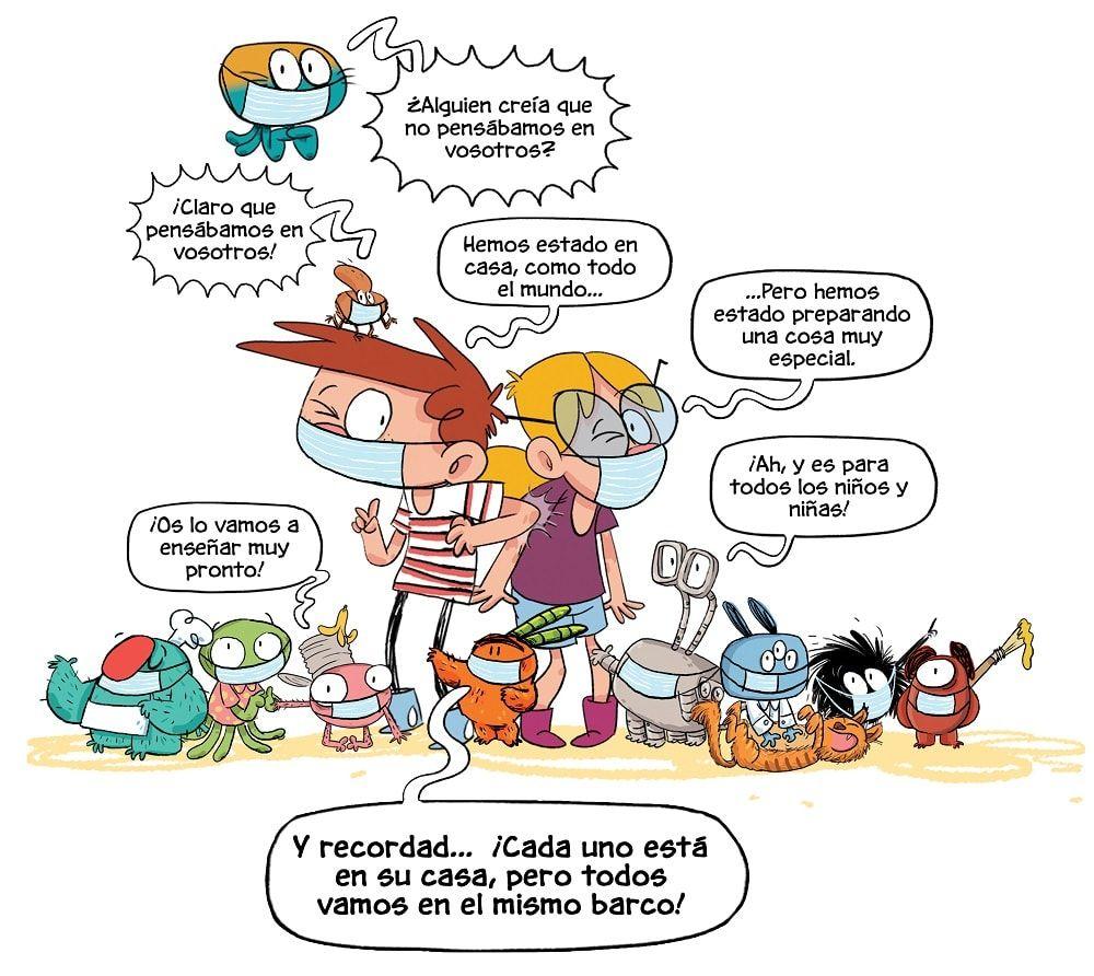 ¡JUNTOS EN CASA! Los días del coronavirus es un libro especial de la colección Agus y los monstruos