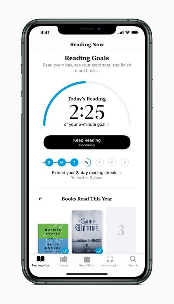Apple books reading goals