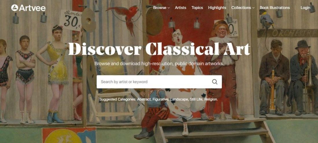 Artvee, el buscador de obras de arte en alta resolución y en dominio público