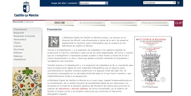 Biblioteca Digital de Castilla – La Mancha (BIDICAM)