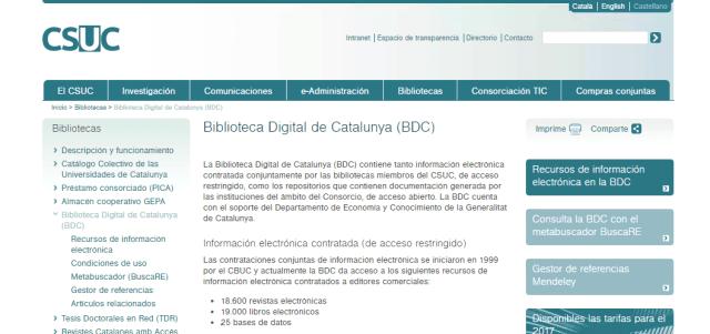 Biblioteca Digital de Catalunya (BDC)