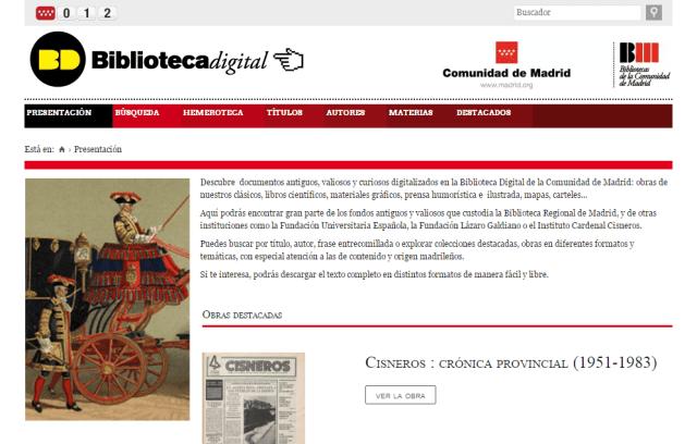 Biblioteca Digital de la Comunidad de Madrid