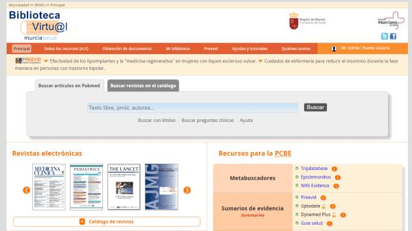 Biblioteca Virtual Murciasalud