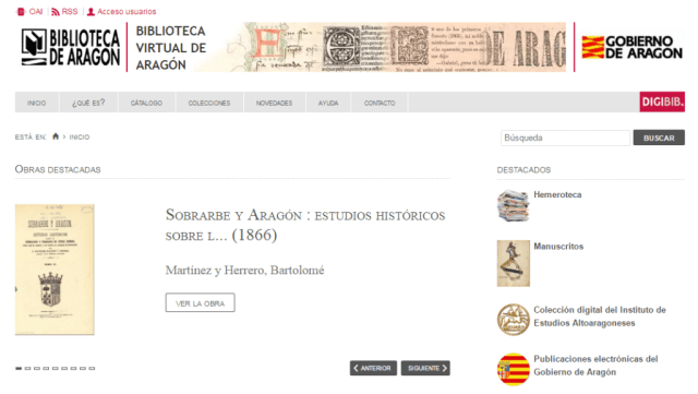 Biblioteca Virtual de Aragón (Biviar)