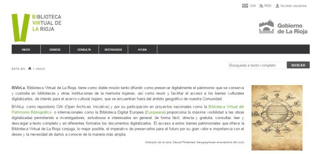 Biblioteca Virtual de La Rioja (BiVirla)