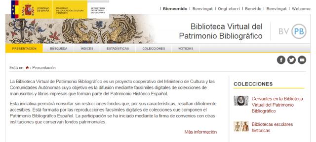 Biblioteca Virtual de Patrimonio Bibliográfico