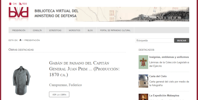 Biblioteca Virtual del Ministerio de Defensa