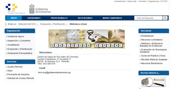 Biblioteca Virtual del Servicio Canario de Salud