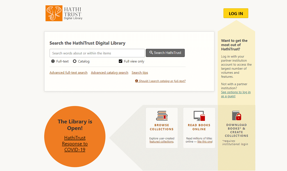 Biblioteca digital HathiTrust