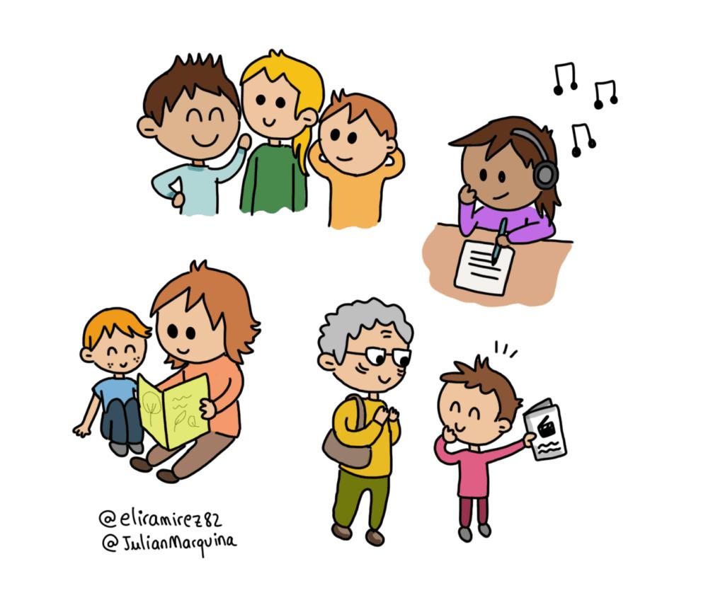 Las bibliotecas se pueden disfrutar de manera individual o junto a compañeros, amigos o familiares