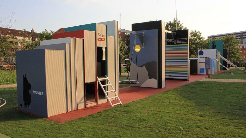 Bibliotekshaven, un curioso y llamativo parque inspirado en la literatura infantil nórdica