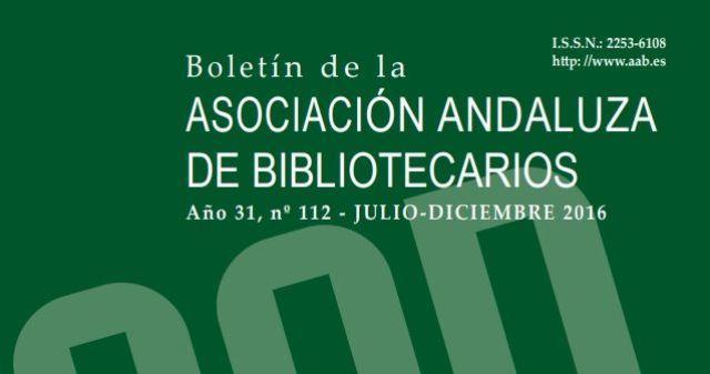 Boletín de la Asociación Andaluza de Bibliotecarios