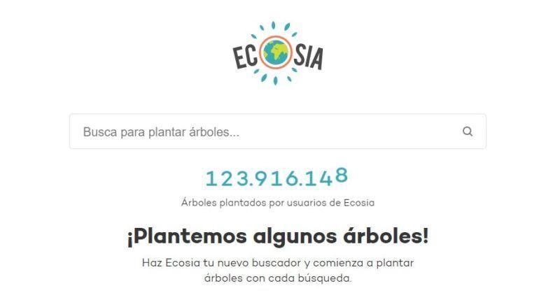 Buscador protección pivacidad Ecosia