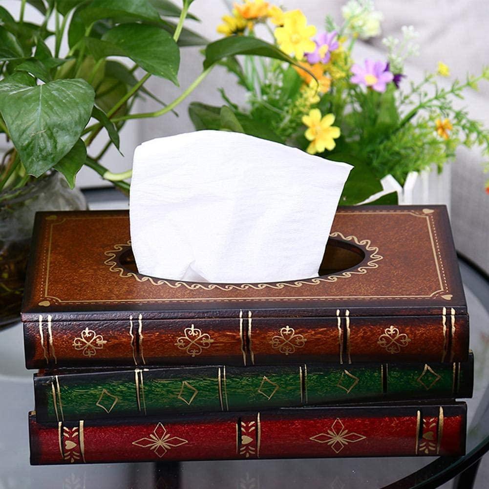 Caja con forma de pila de libros para guardar pañuelos