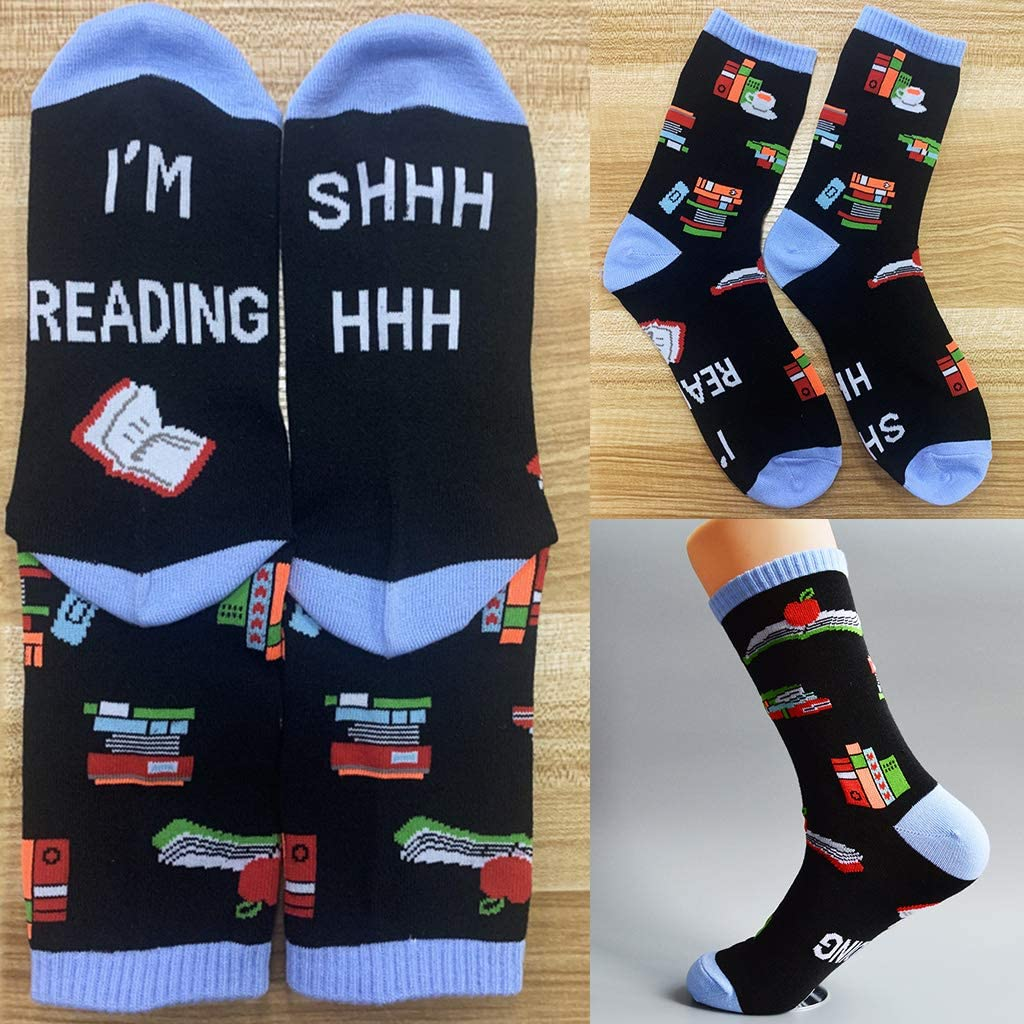 Calcetines Shhh I Am Reading Books