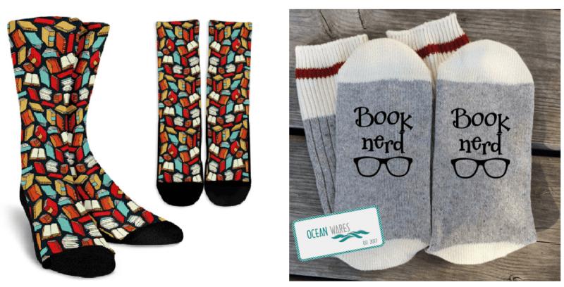 Calcetines de libros y sobre tu afición a la lectura
