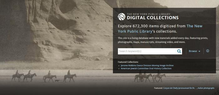 Colecciones digitales de la Biblioteca Pública de Nueva York