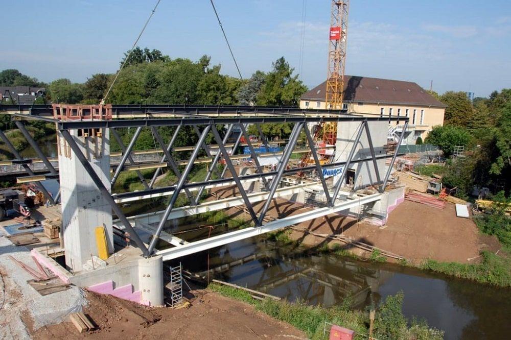 Construcción biblioteca puente Bad Vilbel