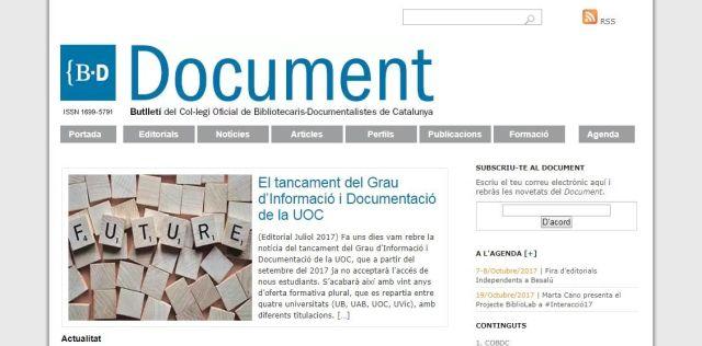 Document. Butlletí del COBDC