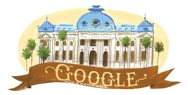 Doodle Biblioteca Nacional de Chile