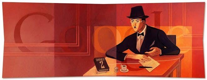 Doodle Fernando Pessoa