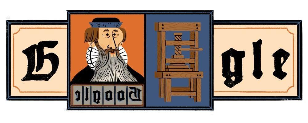 Doodle Johannes Gutenberg