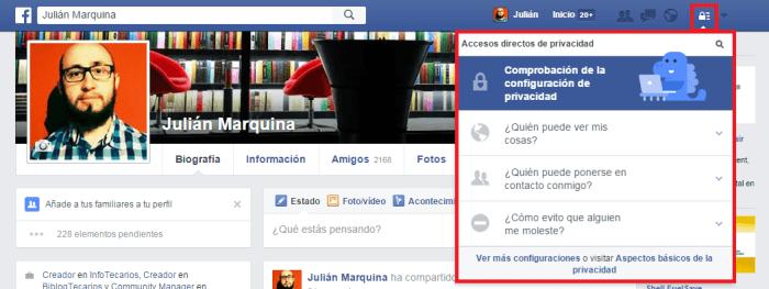 El candado de Facebook