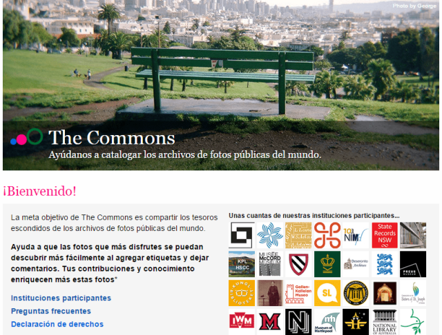 Flickr. The Commons