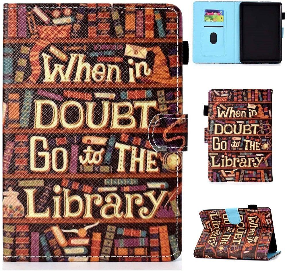 Funda para Kindle de biblioteca