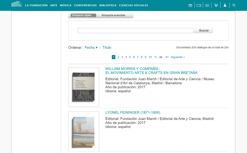 Fundacion Juan March catálogos exposiciones arte