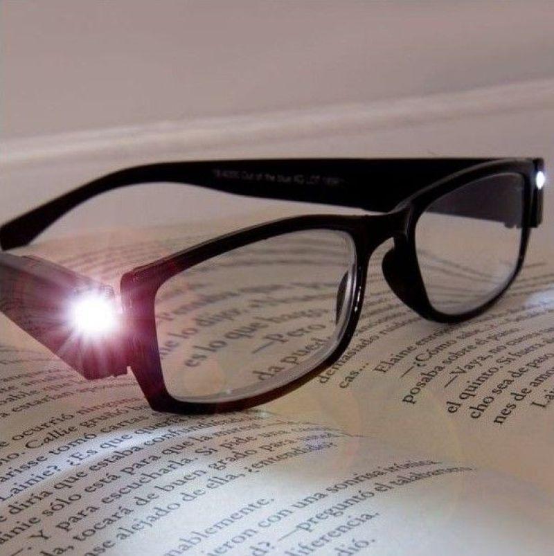 Gafas graduadas con luz para lectura