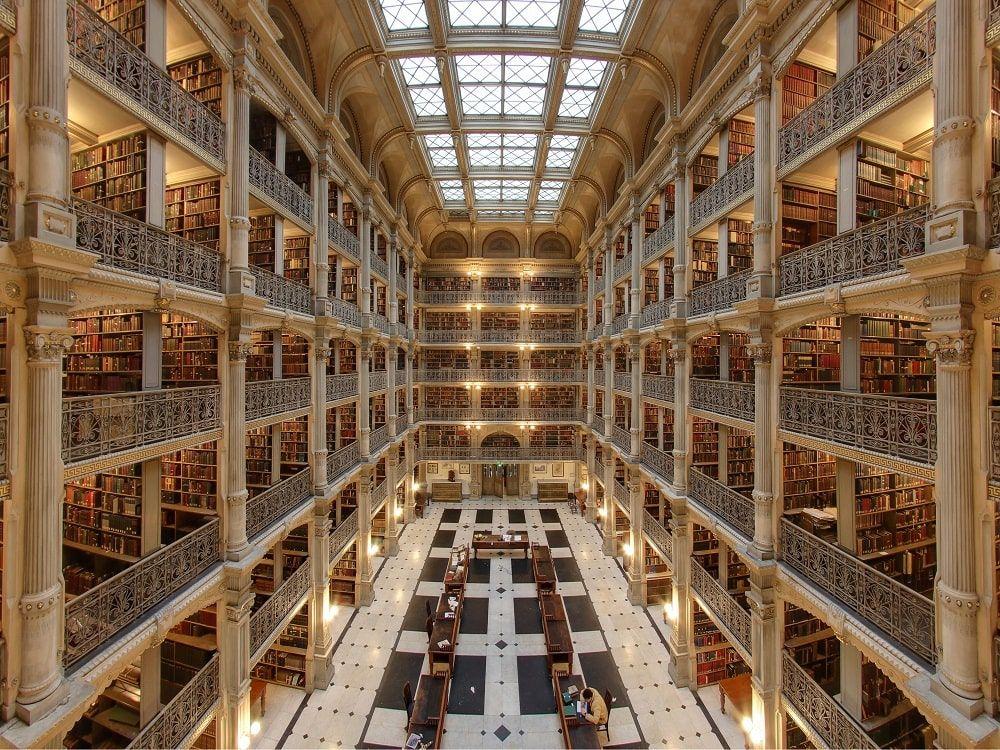 George Peabody Library. CC Matthew Petroff