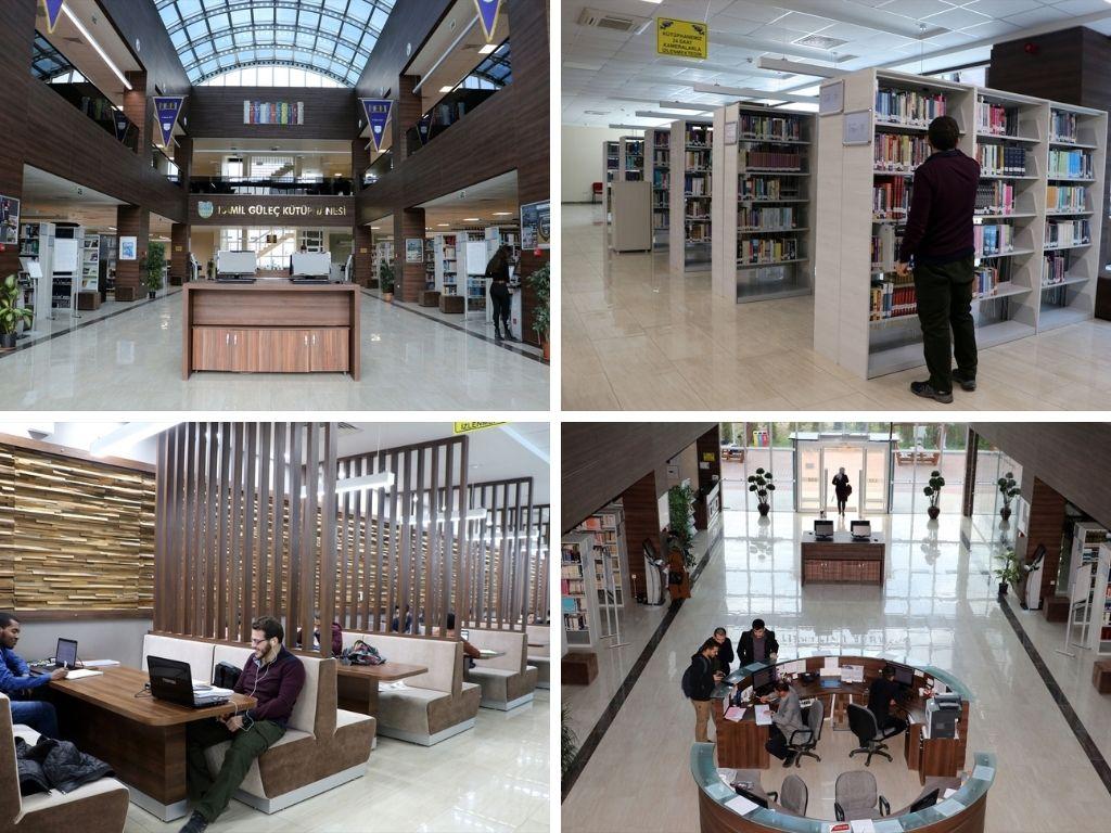 Interior Biblioteca de la Universidad de Karabuk