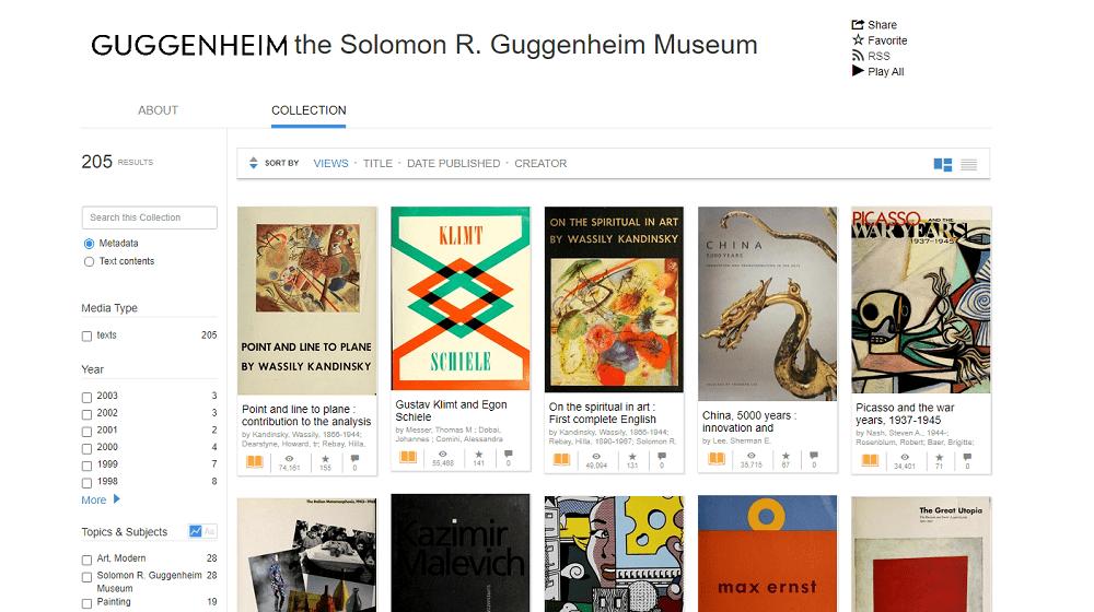Libros de arte del Guggenheim