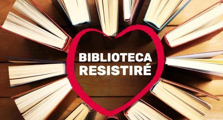 Logo Biblioteca Resistiré cedido por el artista Luis Urrea