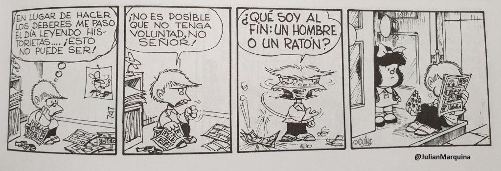 Mafalda - Me paso el día leyendo historietas