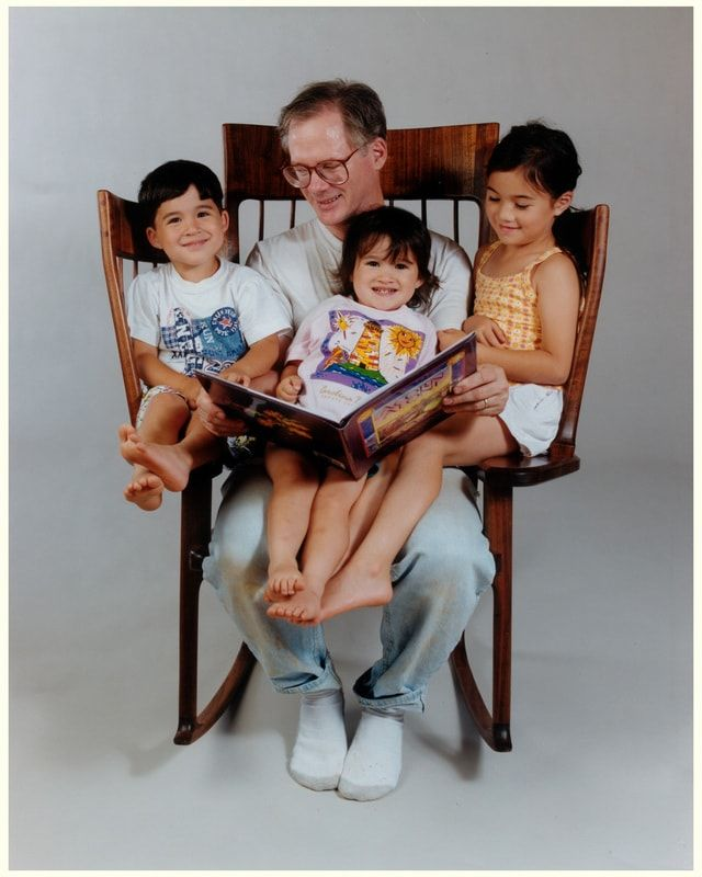 Mecedora de lectura para familias numerosas