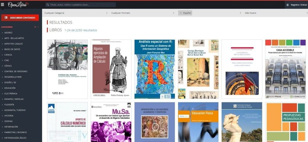 OpenLibra una biblioteca digital con miles de libros libres