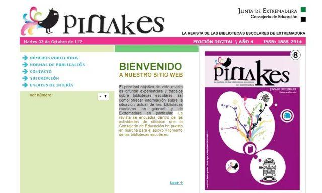 Pinakes. La revista de las bibliotecas escolares de Extremadura