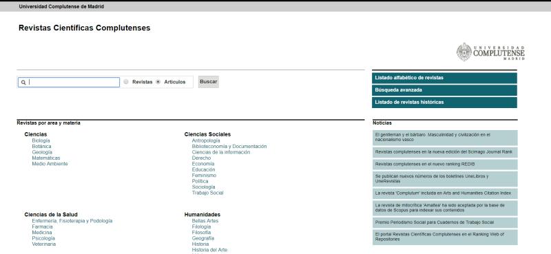 Portal de Revistas Científicas Complutenses