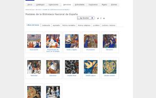 Postales de la Biblioteca Nacional de España