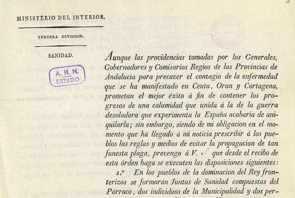 Qué medidas tomó España en el siglo XIX para frenar la epidemia de fiebre amarilla - Portal Archivos Españoles