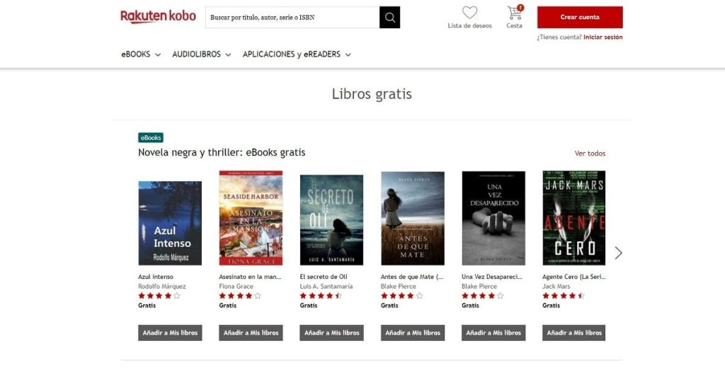 Rakuten Kobo eBooks gratis