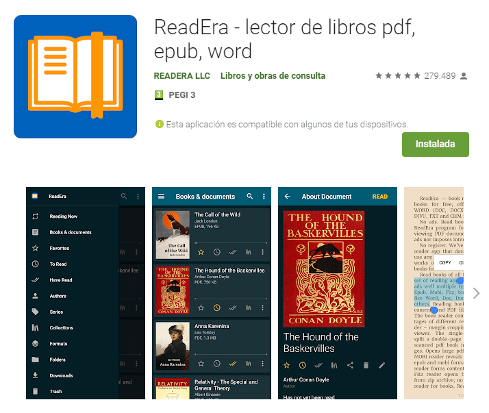ReadEra lector de libro pdf epub word