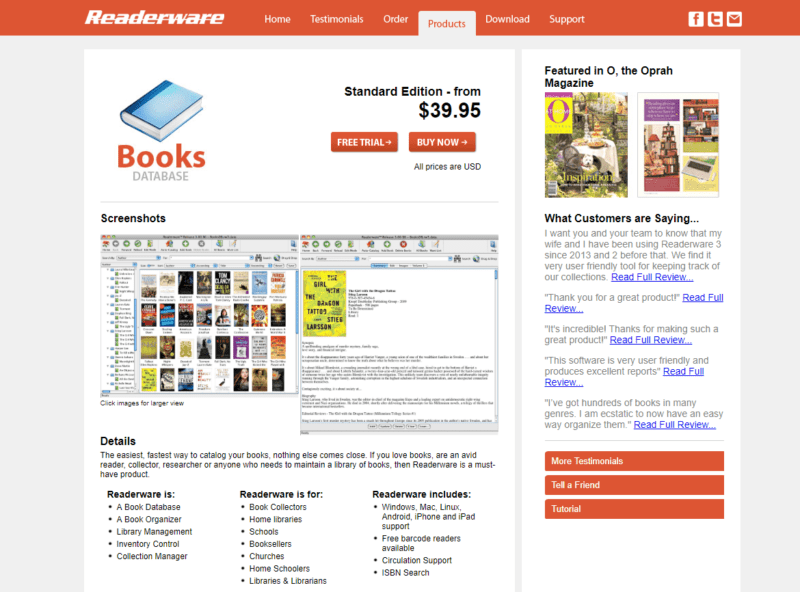 Readerware - Books database