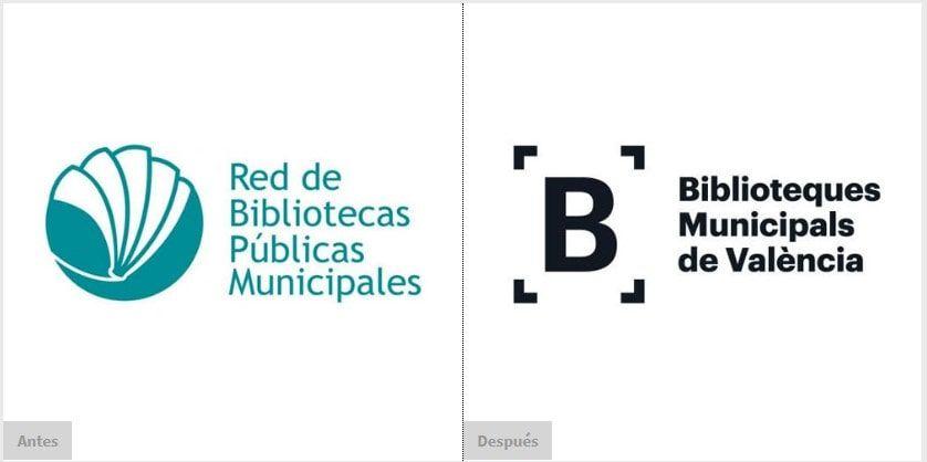 Rediseño del imagotipo de la Red de Bibliotecas Municipales de Valencia
