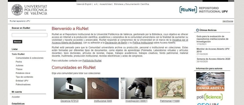 RiuNet - Repositorio Institucional Universidad Politécnica de Valencia